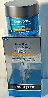 NEUTROGENA HYDRO BOOST CITY SHIELD WATER GEL SPF 25 PROTECTS AGAINST POLLUTION