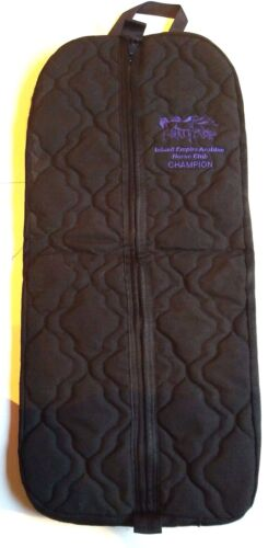 Bridle Halter Bag Quilted Black Zippered Embroidered Purple Equine Horse