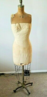 Antique Better Model Form Company Cast Iron Dress Form Mannequin Brooklyn Ny