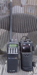 ICOM IC-A3 VHF AIR BAND TRANSCEIVER RADIO w/Antenna, Battery Case, Carrying Case