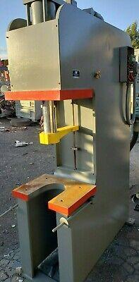 Late Model 35 Ton Advanced Hydraulics Inc. Us Made C-frame Hydraulic Press