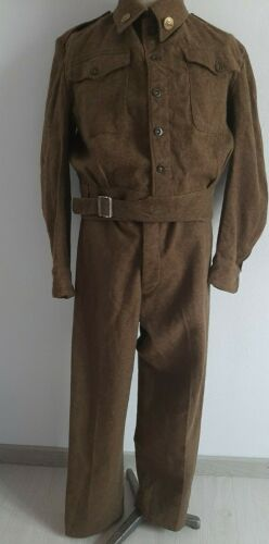WW2 original  British Battle Dress Uniform Wool Tunic and pants