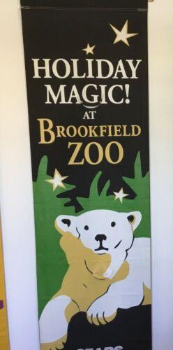 Vintage Original SEARS Brookfield Zoo CHICAGO, IL Street Banner Polar Bear HUGE