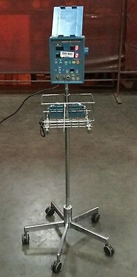 Ge Dinamap Xl Vital Signs Monitor On 5 Wheel Pole Stand  Powers On