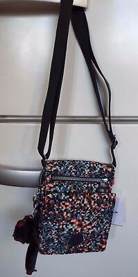 Kipling Eldorado Pixel Check crossbody shoulder Travel,Organiser bag new tag