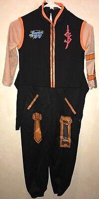 boys medium 1 pc BLACK HALLOWEEN JUMPSUIT COSTUME SHAMAN KING NEW NWOT long slee