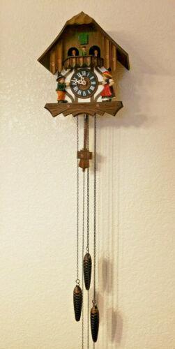 Works! Vintage Cuckoo Clock Schmeckenbecher West Germany Wood Chalet 1 Day Rare!