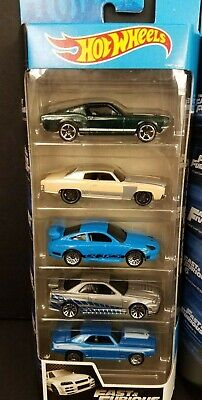2020 Hot Wheels Fast & Furious 5 Pack '67 Mustang 70 Monte Porsche 911 GT3 Skyli