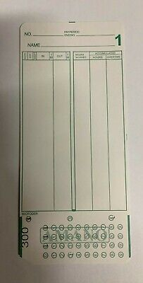 2000 Amano Mjr-8000 Time Clock Cards Series 300-549 White Card Stock