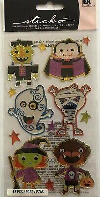 3091 EK SUCCESS Epoxy Stickers - HALLOWEEN CHARACTERS - PkgSz 8 1/2 x 4](2x4 Halloween Crafts)