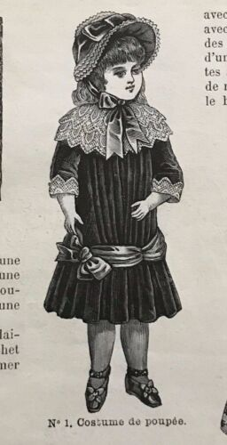 MODE ILLUSTREE SEWING PATTERN Nov 23,1884 DOLL outfits patterns