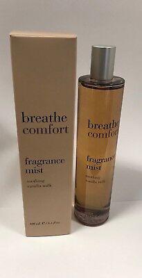 (Breathe Comfort Soothing Vanilla Milk Fragrance Mist By Bath & Body Works Lot K)