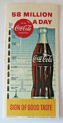 "Vintage Coca-Cola Coke ""58 Million A Day"" Blotter 1957 Lot of 10 #2794"