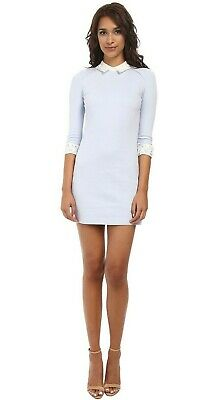 "TED BAKER ""CURRIE"" BLUE & IVORY LACE DRESS UK 14 TED 4 USA 10 BNWT RRP £139.00"