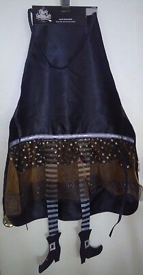 Happy Halloween Black Witch (Adult Size Happy Halloween Black and Golden Witch Legs Apron)