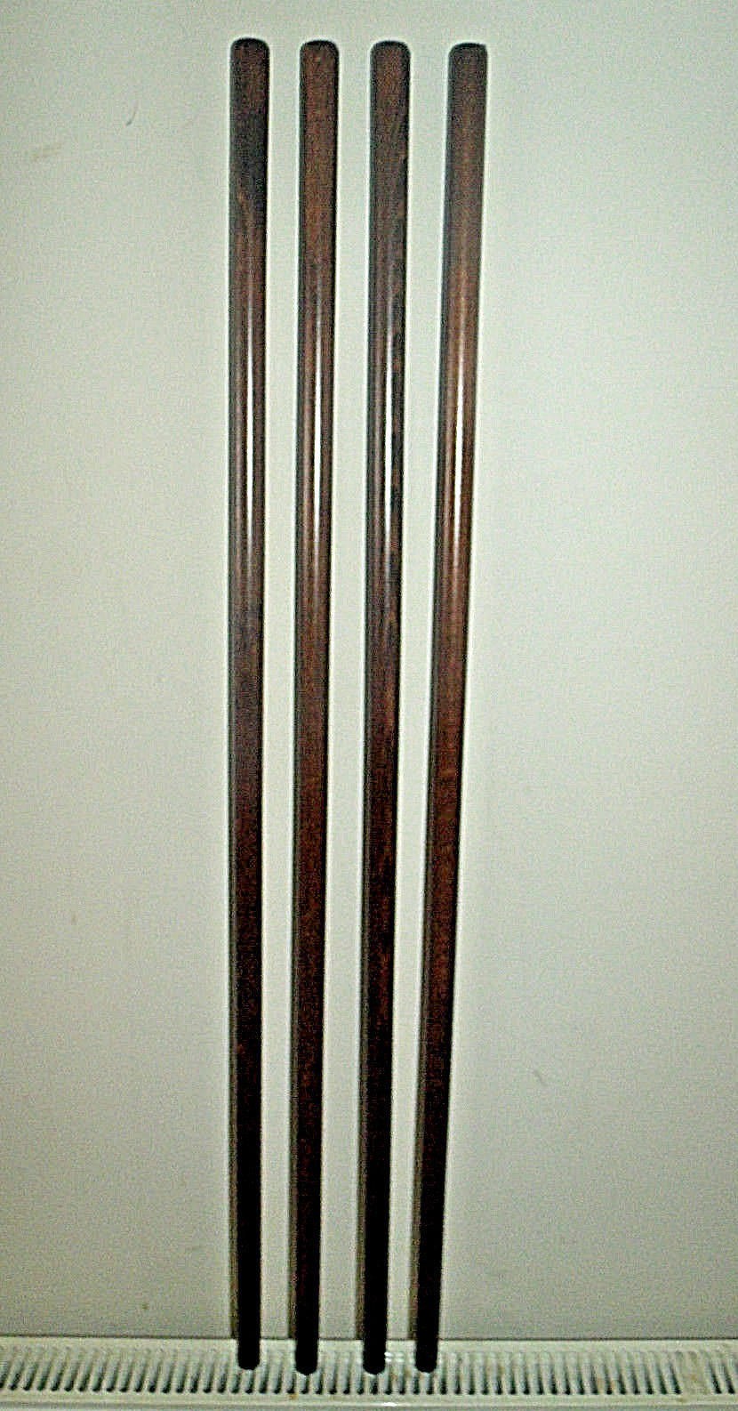 Dark Brown Shaft for Walking Stick Making Beech Wood Parts Accessories Canes x1