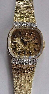 Vintage Ladies Diamond Rolex 14k Yellow Gold Watch #BX2-RLX63