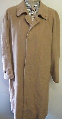 "Genuine Burberry Brown Cashmere Raincoat Coat Mac Size L 42"" Euro 52"