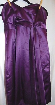 Womens DESSY COLLECTION Purple STRAPLESS Short Formal Prom Dress Size 12