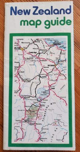 Vintage MAP GUIDE New Zealand 1981