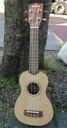 Kala KA-SSG Soprano acoustic Ukulele uke & padded gigbag New Free shippng