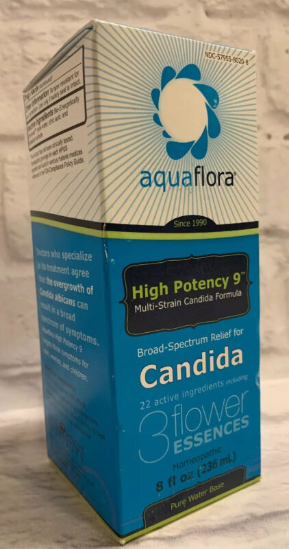 AquaFlora High Potency 9 Homeopathic Candida Yeast Infection Relief 8oz Unisex