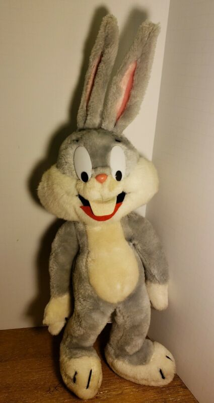 Bugs Bunny Plush Warner Brothers Looney Tunes Vintage 1971 Mighty Star RARE