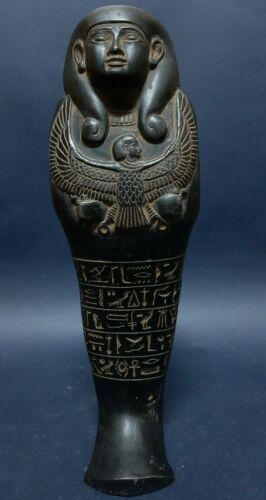 ANCIENT EGYPTIAN ANTIQUE USHABTI SHABTI With HIEROGLYPHICS Servant ISIS EGYPT BC