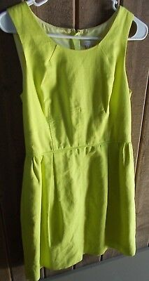 J. Crew Sleeveless Yellow Cotton Dress Sz 10 Yellow Cotton Dress