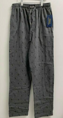 NEW Polo Ralph Lauren Mens M,L,XL Flannel Pajama Pants All over Pony PJ Grey