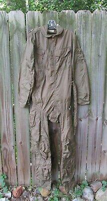 Vintage USN Navy Type Z-2 Anti-G Anti-Blackout Flight Suit Coveralls 38 Long
