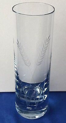 Vintage Blue Controlled Bubble Art Glass Vase Home Decor Hand Blown (Gifts Kosta Boda Vases)