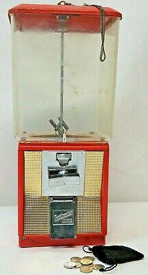 Vintage Northwestern 5 Cent Peanut Gumball Machine D03660 With Key & Coins