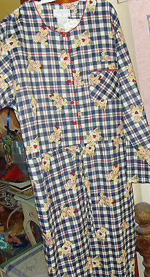 New adult baby Halloween costume size M one piece jumper flannel teddy bears