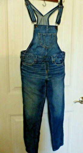 Abercrombie Kids Girls Denim Blue Jean Overalls Size XL