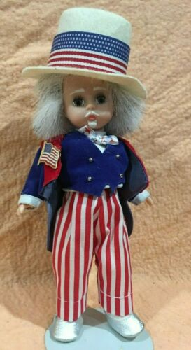 Madame Alexander Patriotic doll  American Girl Toy W Stand 8 in high Vintage