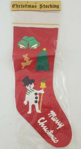 "Vintage MCM Felt Christmas Stocking Holiday Decoration 24"" Japan NOS In Pkg"