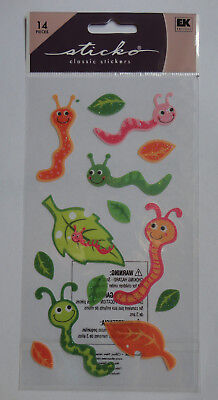 Worms Scrapbook Stickers - Scrapbook Stickers