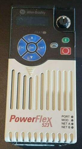 25A-D4P0N104 Allen Bradley PowerFlex 523 Drive 480V AC 3-Ph 2HP