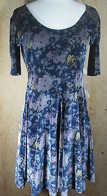 Urban Outfitters Kimchi Blue Womens Velvet Floral Dress Small M