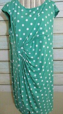 NWT DRESSBARN Women Party Dress 2X 20W POLKA DOT Green Short Sleeve SPRING C8 Dot Spring Dress