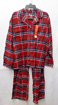 Womens Size XXL Jammies For Your Families Red/Blue Plaid Pj Set Nwt #12698 ()