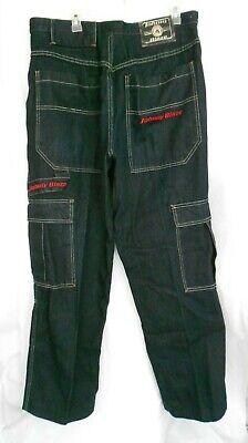 JOHNNY BLAZE DENIM JEANS PANTS BAGGY CARGO CARPENTER DARK BLUE MENS SIZE (Carpenter Baggy Jeans)