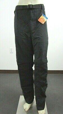 "Mens 40"" Waist 32"" Inseam Columbia Silver Ridge Convertible Hiking Pants Black"