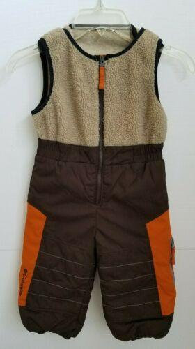 Columbia Boys Snow Pants Brown Orange Size 24 Months