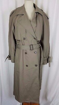 Spy Trenchcoat (Etienne Aigner Insulated Long Belted Cape Top Classic Spy Trench Coat Womens 12)