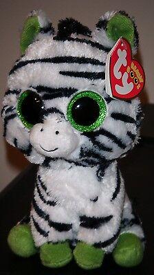 "Ty Beanie Boos ~ ZIG-ZAG the 6"" Zebra (Glitter Eyes) NEW with MINT TAGS ~RETIRED"