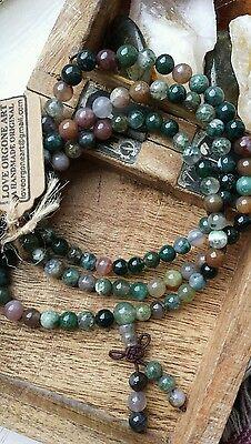 Mala Prayer Beads 108 Crystal Gemstones - Buddhist Meditation Necklace Bracelet
