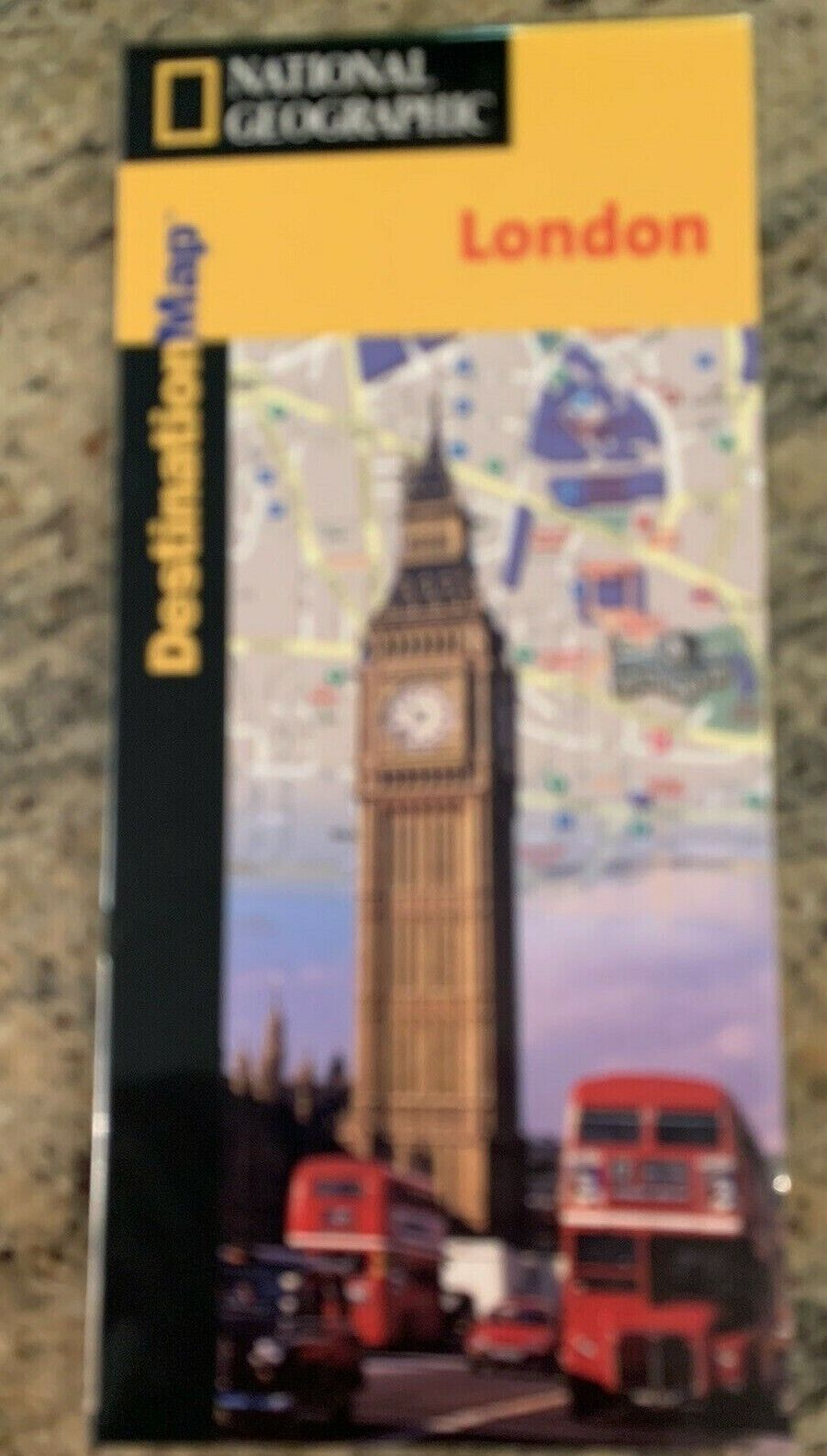 Street Map Of London, England, By National Geographic Destination Maps - $3.50