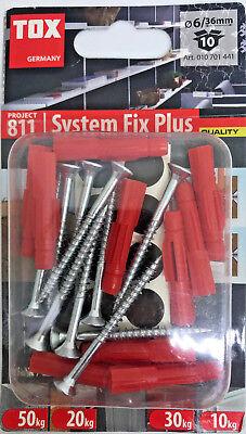 Tox System (TOX Schrauben + Dübel 6/36 mm SYSTEM FIX PLUS Projekt 811)